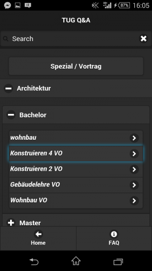 (German) DIY student questions app
